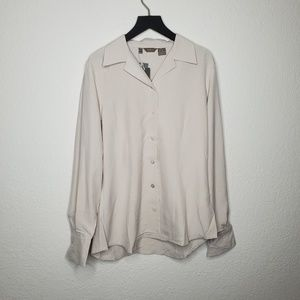 NEW Zara Tan Button Up